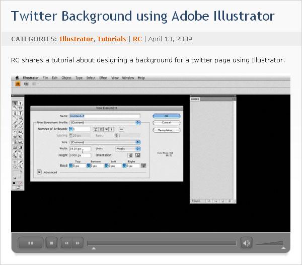 Twitter Background using Adobe Illustrator