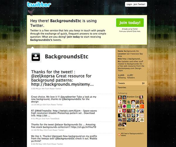 Starfield Tileable Twitter Background Tutorial