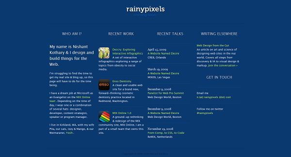 Rainy Pixels