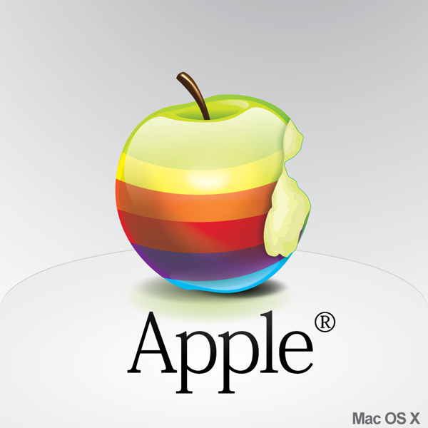 Apple Rainbow Icon by Alex